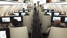 Qatar Airways Business One Airbus Cabin